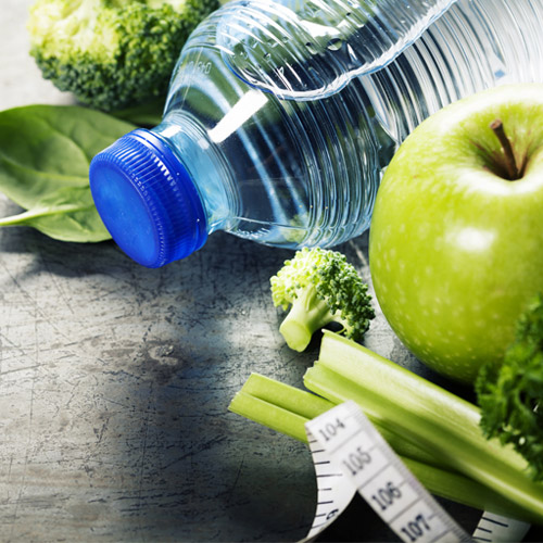 Improve your health by eating healthily and drinking lots of water